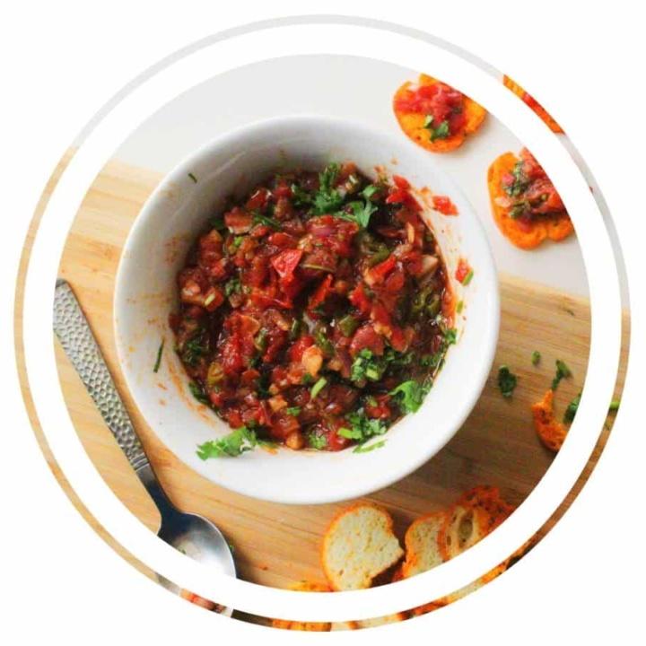 Easy Bruschetta Dip - Asian Style