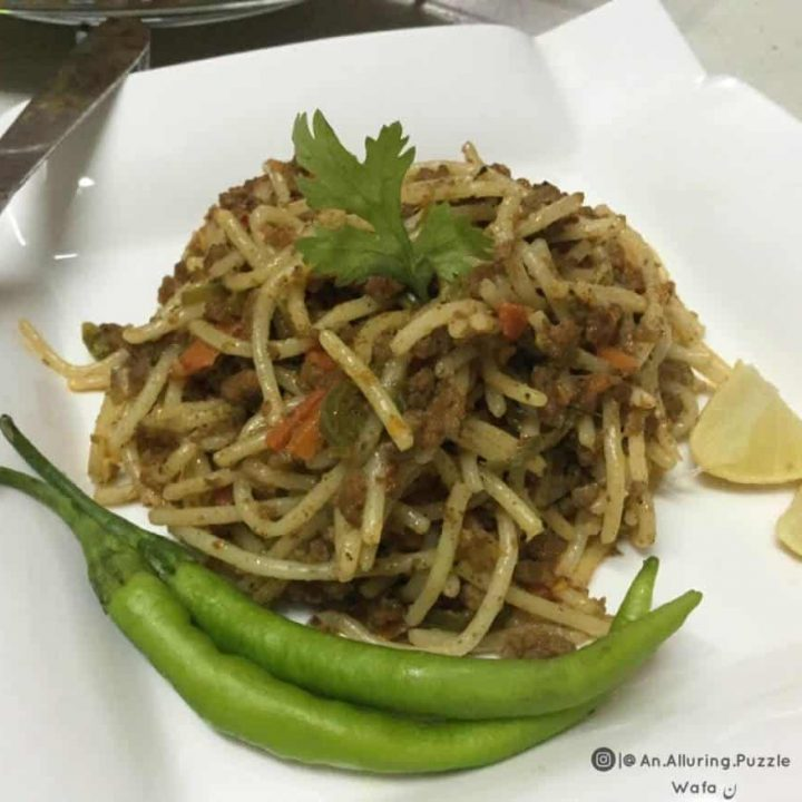 MEAT AND VEGETABLE SPAGHETTI