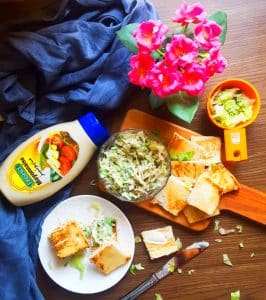 easy creamy vegetable sandwich recipe