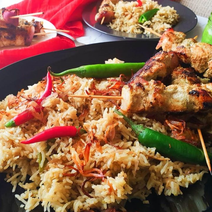 chicken malai boti pulao recipe