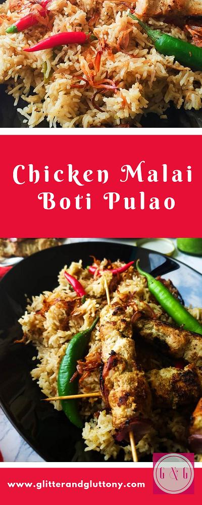 Chicken Malai Boti Pulao