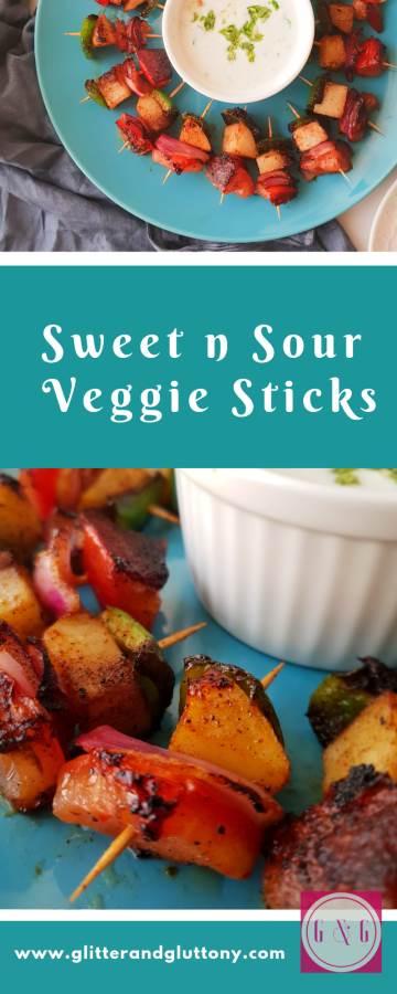 sweet and sour veggie sticks