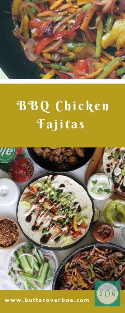 bbq chicken fajita pinterest pin