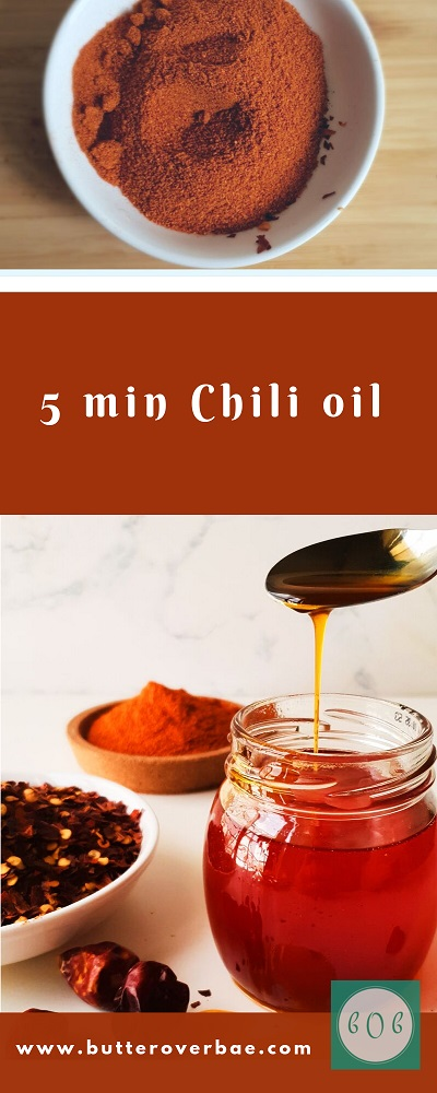 how to make chili oil in 5 mins pinterest pin