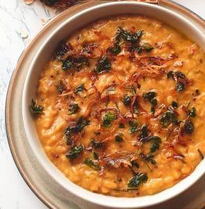 tangy savory lentil oats