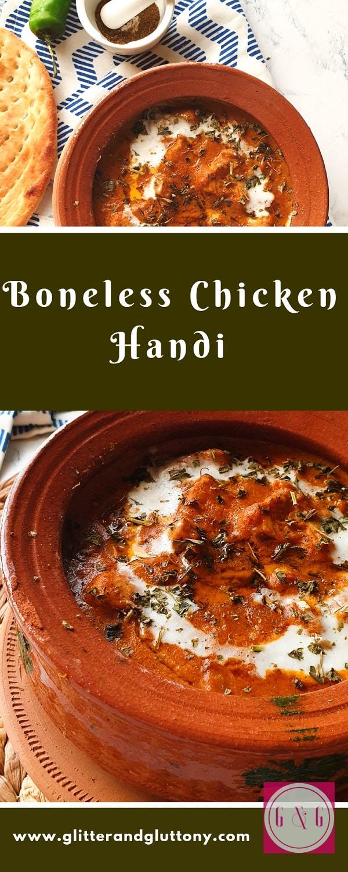 bonless chicken handi - indian/pakistani
