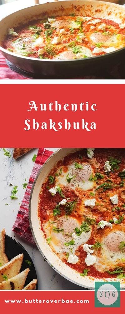 easy shakshuka recipe pinterest pin
