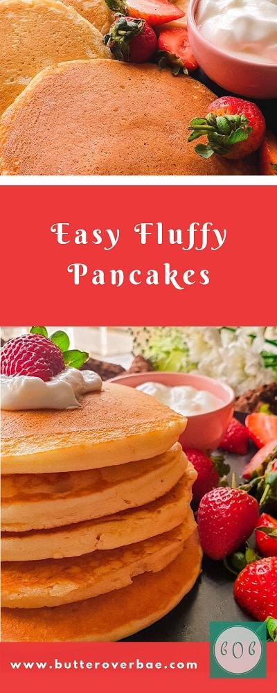 PINTEREST PIN FOR HOW TO MAKE PANCAKES FROM SCRATCH