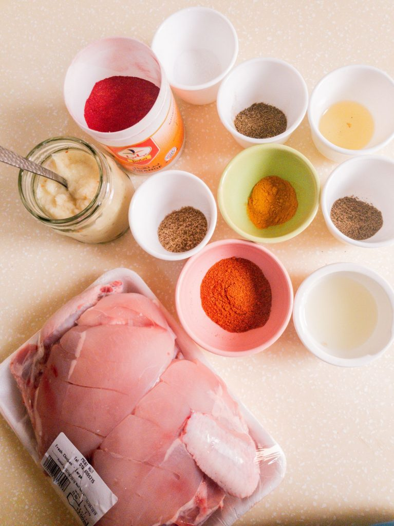 recipe ingredients for chicken tikka