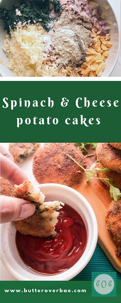 spinach and cheese potato cakes pinterest pin