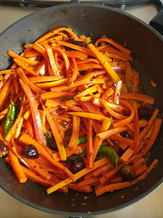 gajar ka achar - pickled carrots ready to serve