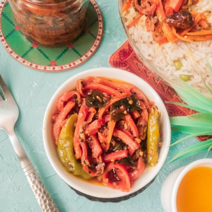 Quick Pickled Carrots recipe - Gajar ka Achar