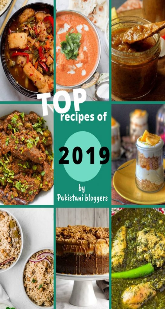 top recipes by pakistani bloggers in 2019 collage