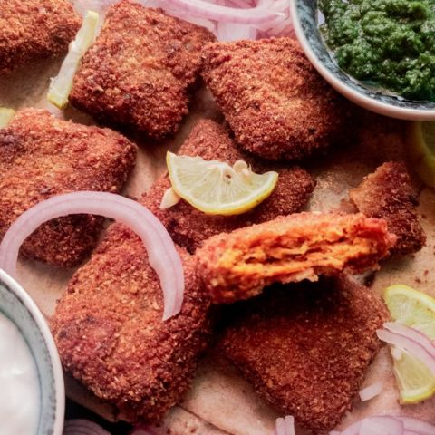 Tandoori chicken nuggets