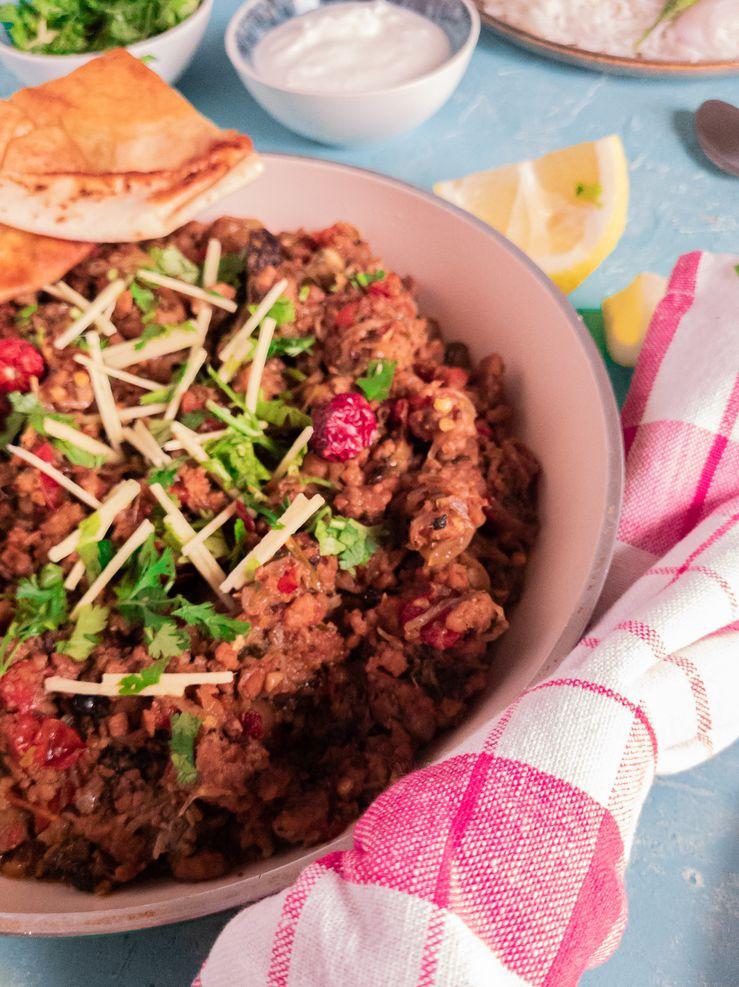 khara masala keema - beef mince