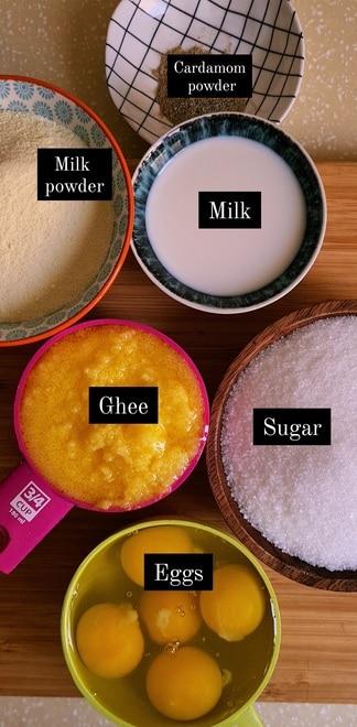 ingredients needed for anday ka halwa