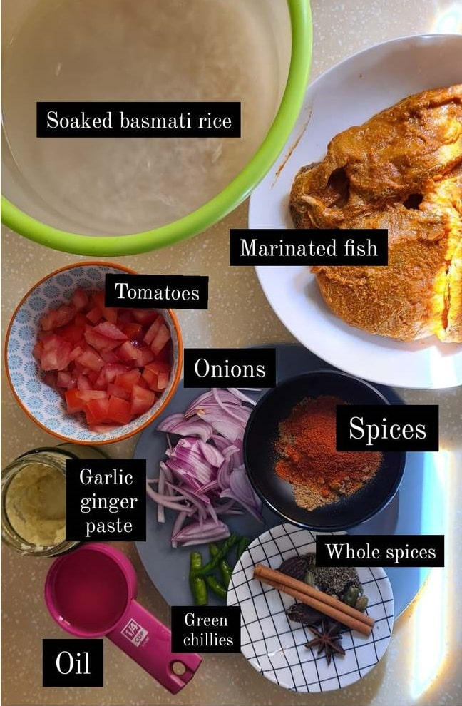 ingredients for fish tahiri
