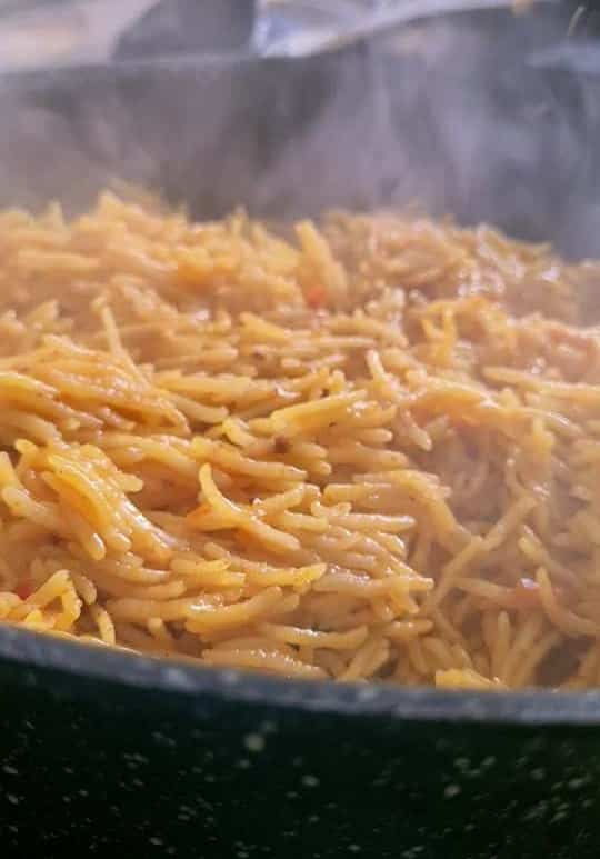 tahiri rice cooked and ready