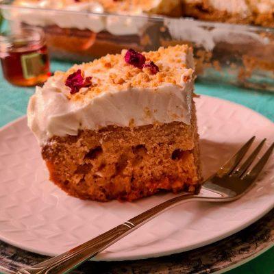 rose and honey poke cake