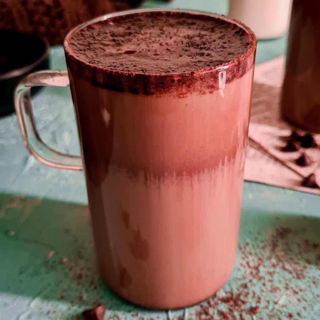 a Pakistani whipped mocha latte