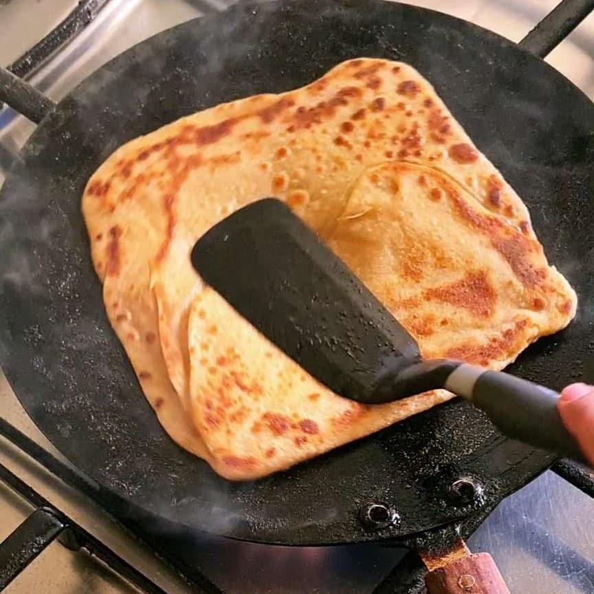 frying frozen paratha