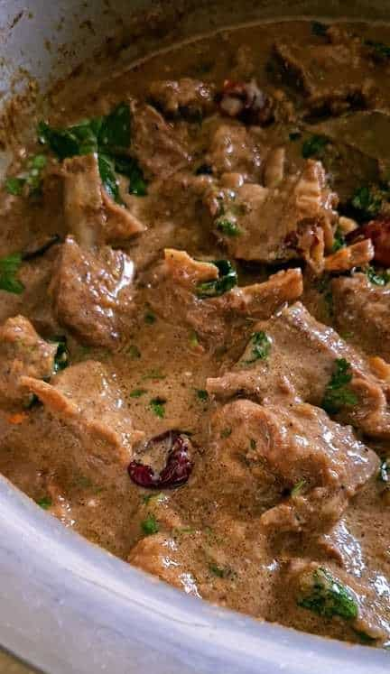 mutton curry ready for biryani